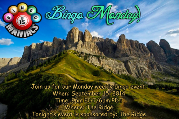 Bingo at the Ridge Sep 15 2014