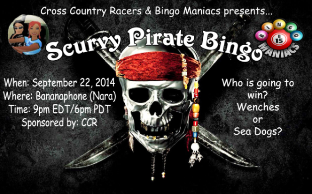 Scurvy Pirate Bingo