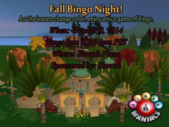 bingo at shorah october 8