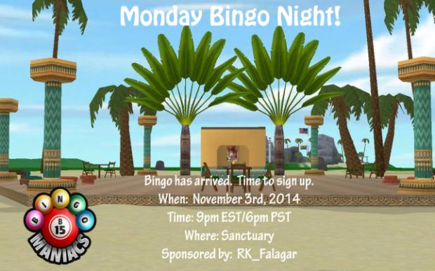 Monday Bingo Night