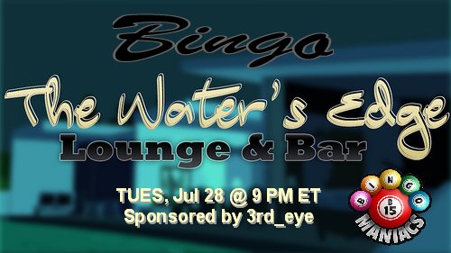 Bingo at waters edge
