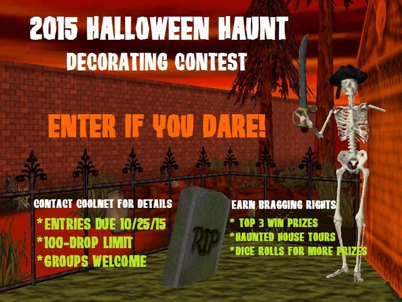 Halloween haunt decorating contest therevirtualworld